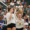 #22 Cal Poly hosted #9UCLA at Mott Athletics Center in San Luis Obispo. 9/6/187:55:27 PM <br /> <br /> Photo by Owen Main