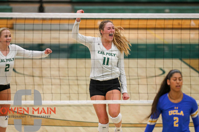 #22 Cal Poly hosted #9UCLA at Mott Athletics Center in San Luis Obispo. 9/6/186:49:22 PM <br /> <br /> Photo by Owen Main