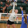 #22 Cal Poly hosted #9UCLA at Mott Athletics Center in San Luis Obispo. 9/6/187:22:53 PM <br /> <br /> Photo by Owen Main