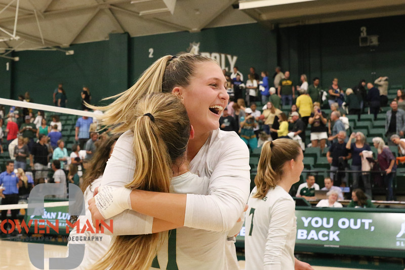 #22 Cal Poly hosted #9UCLA at Mott Athletics Center in San Luis Obispo. 9/6/188:57:18 PM <br /> <br /> Photo by Owen Main