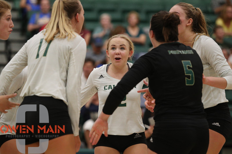 #22 Cal Poly hosted #9UCLA at Mott Athletics Center in San Luis Obispo. 9/6/187:48:27 PM <br /> <br /> Photo by Owen Main