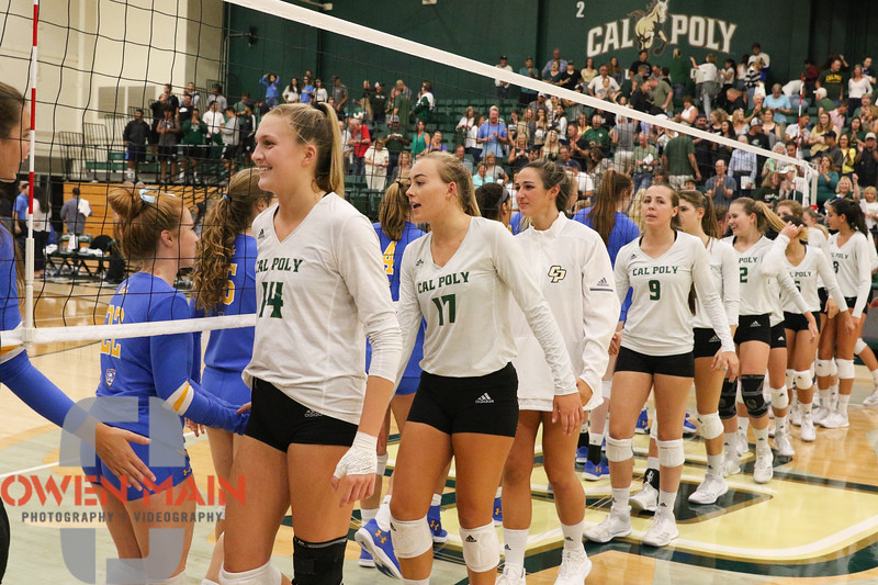 #22 Cal Poly hosted #9UCLA at Mott Athletics Center in San Luis Obispo. 9/6/188:56:32 PM <br /> <br /> Photo by Owen Main