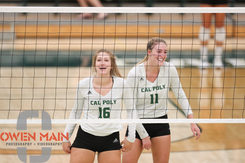 #22 Cal Poly hosted #9UCLA at Mott Athletics Center in San Luis Obispo. 9/6/187:21:36 PM <br /> <br /> Photo by Owen Main