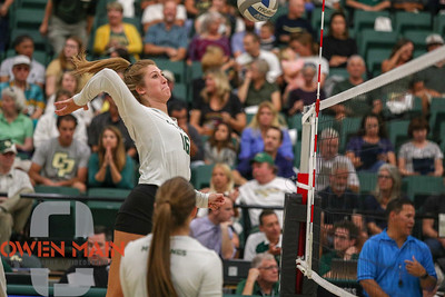 #22 Cal Poly hosted #9UCLA at Mott Athletics Center in San Luis Obispo. 9/6/185:57:51 PM   Photo by Owen Main