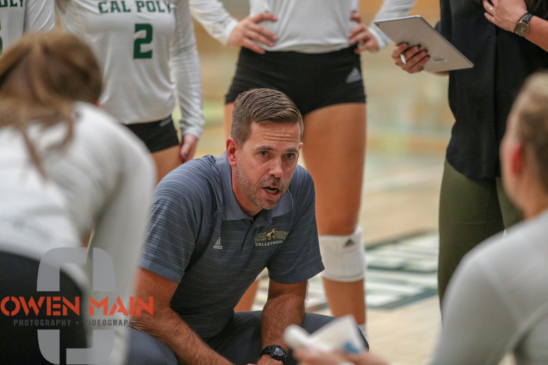 #22 Cal Poly hosted #9UCLA at Mott Athletics Center in San Luis Obispo. 9/6/186:56:57 PM <br /> <br /> Photo by Owen Main
