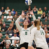 #22 Cal Poly hosted #9UCLA at Mott Athletics Center in San Luis Obispo. 9/6/187:54:44 PM <br /> <br /> Photo by Owen Main