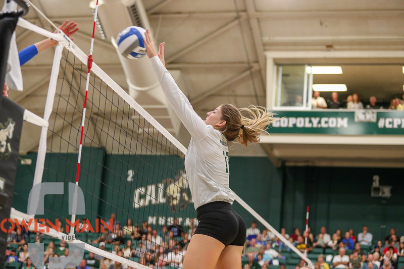 #22 Cal Poly hosted #9UCLA at Mott Athletics Center in San Luis Obispo. 9/6/186:57:41 PM <br /> <br /> Photo by Owen Main