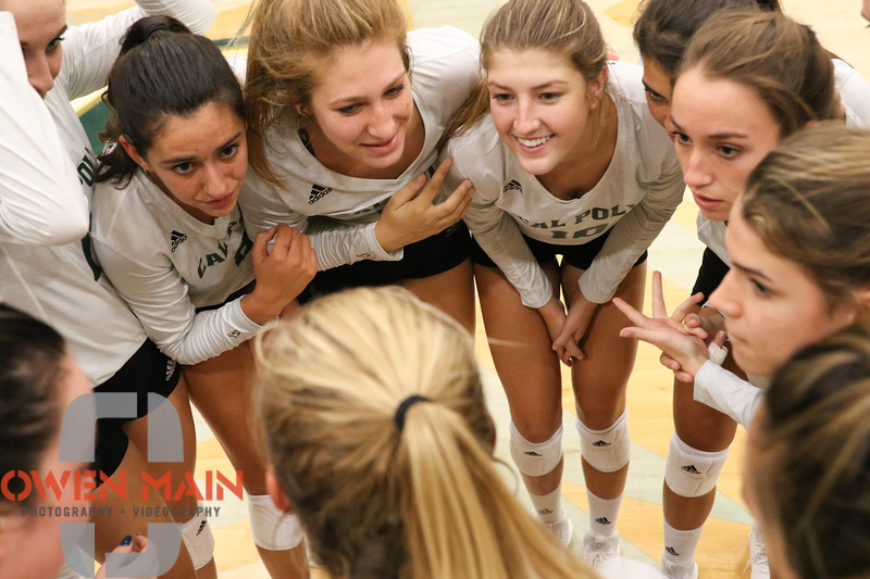 #22 Cal Poly hosted #9UCLA at Mott Athletics Center in San Luis Obispo. 9/6/188:57:06 PM <br /> <br /> Photo by Owen Main