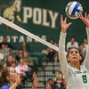 #22 Cal Poly hosted #9UCLA at Mott Athletics Center in San Luis Obispo. 9/6/187:34:38 PM <br /> <br /> Photo by Owen Main