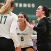 #22 Cal Poly hosted #9UCLA at Mott Athletics Center in San Luis Obispo. 9/6/187:49:21 PM <br /> <br /> Photo by Owen Main