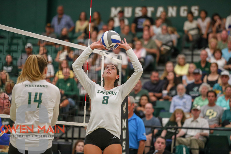 #22 Cal Poly hosted #9UCLA at Mott Athletics Center in San Luis Obispo. 9/6/186:54:55 PM <br /> <br /> Photo by Owen Main