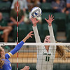 #22 Cal Poly hosted #9UCLA at Mott Athletics Center in San Luis Obispo. 9/6/187:23:05 PM <br /> <br /> Photo by Owen Main