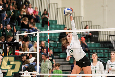 Cal Poly volleyball hosted UCSB at Mott Athletics Center in San Luis Obispo, CA. Photo by Owen Main 11/9/19