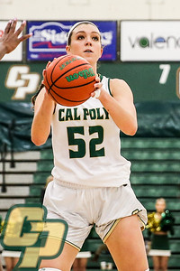 Cal Poly Women's Basketball hosted Old Dominion at Mott Athletics Center in San Luis Obispo, CA. Photo by Owen Main 11/29/19