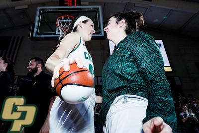 Cal Poly women's basketball hosted UC Davis at Mott Athletics Center.  Photo by Owen Main 1/25/20