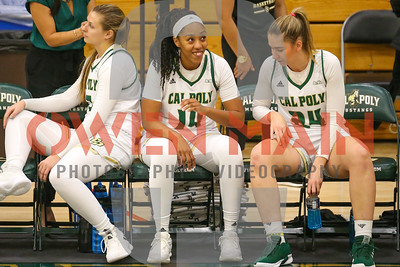 Cal Poly Women's Basketball hosted UC Riverside. Photo by Owen Main 2/21/19