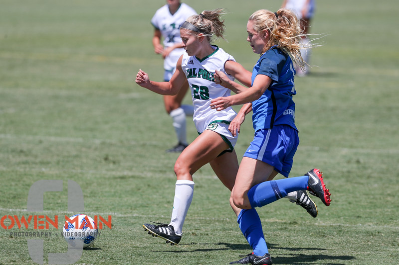 Cal Poly Women's Soccer played Boise State at Alex G. Spanos Stadium. 8/26/1812:13:39 PM <br /> <br /> Photo by Owen Main