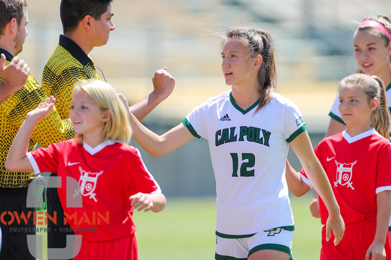 Cal Poly Women's Soccer played Boise State at Alex G. Spanos Stadium. 8/26/1810:59:30 AM <br /> <br /> Photo by Owen Main