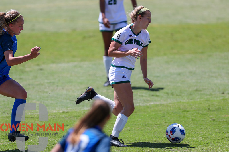 Cal Poly Women's Soccer played Boise State at Alex G. Spanos Stadium. 8/26/1811:29:50 AM <br /> <br /> Photo by Owen Main