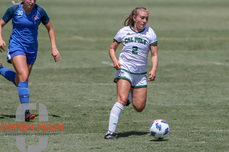 Cal Poly Women's Soccer played Boise State at Alex G. Spanos Stadium. 8/26/1812:10:26 PM <br /> <br /> Photo by Owen Main