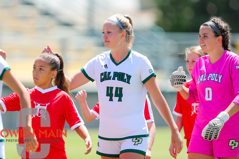 Cal Poly Women's Soccer played Boise State at Alex G. Spanos Stadium. 8/26/1810:59:38 AM <br /> <br /> Photo by Owen Main