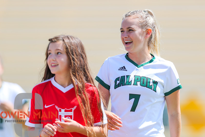Cal Poly Women's Soccer played Boise State at Alex G. Spanos Stadium. 8/26/1810:56:47 AM <br /> <br /> Photo by Owen Main