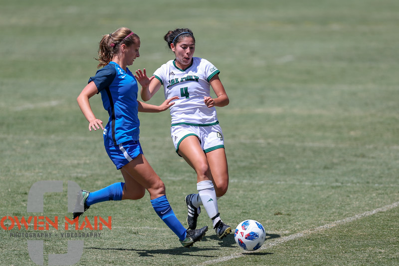 Cal Poly Women's Soccer played Boise State at Alex G. Spanos Stadium. 8/26/1812:35:05 PM <br /> <br /> Photo by Owen Main