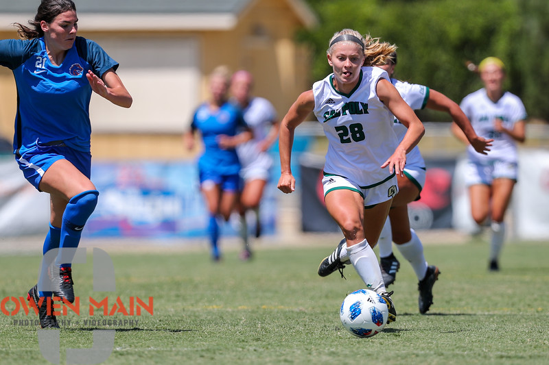 Cal Poly Women's Soccer played Boise State at Alex G. Spanos Stadium. 8/26/1812:23:19 PM <br /> <br /> Photo by Owen Main