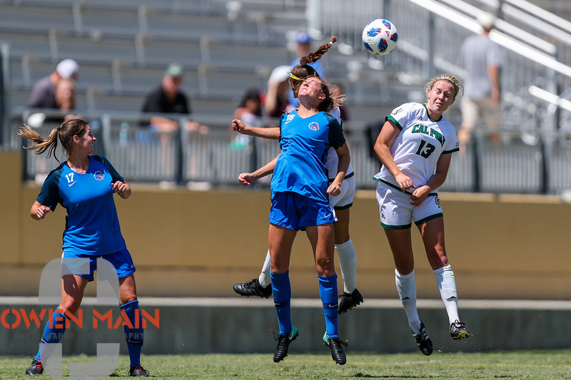 Cal Poly Women's Soccer played Boise State at Alex G. Spanos Stadium. 8/26/1812:17:46 PM <br /> <br /> Photo by Owen Main