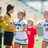 Cal Poly Women's Soccer played Boise State at Alex G. Spanos Stadium. 8/26/1810:59:29 AM <br /> <br /> Photo by Owen Main