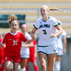 Cal Poly Women's Soccer played Boise State at Alex G. Spanos Stadium. 8/26/1810:56:30 AM <br /> <br /> Photo by Owen Main