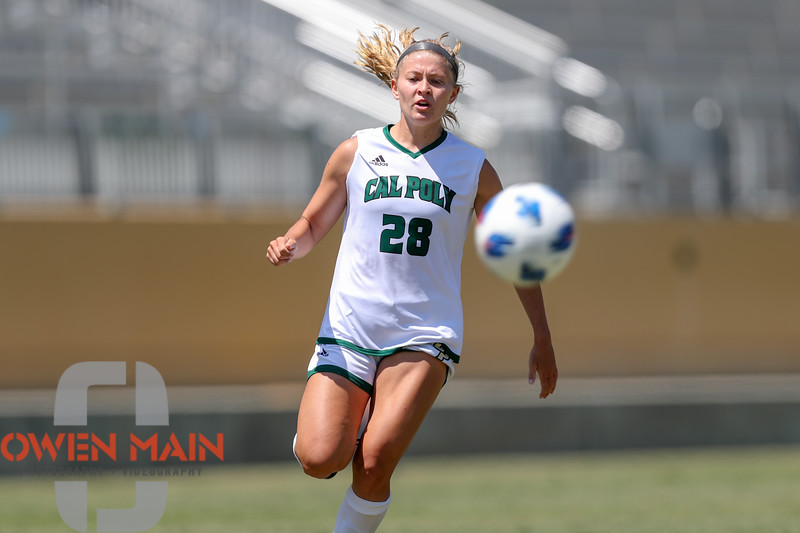 Cal Poly Women's Soccer played Boise State at Alex G. Spanos Stadium. 8/26/1812:21:35 PM <br /> <br /> Photo by Owen Main
