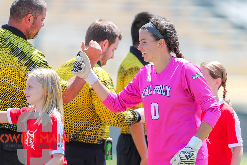 Cal Poly Women's Soccer played Boise State at Alex G. Spanos Stadium. 8/26/1810:59:40 AM <br /> <br /> Photo by Owen Main