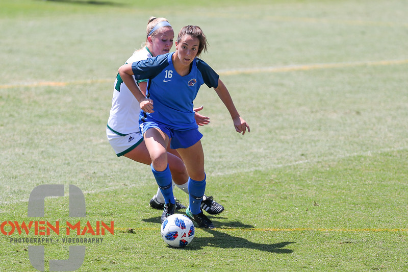 Cal Poly Women's Soccer played Boise State at Alex G. Spanos Stadium. 8/26/1811:18:35 AM <br /> <br /> Photo by Owen Main