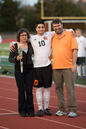 Cal High Soccer Senior Night 2-13-14