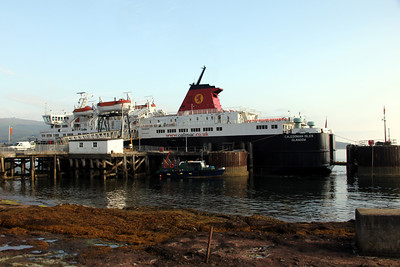 MV Caledonian Isles at Brodick having arrived on 07:00 from Ardrossan. 14 July 2011