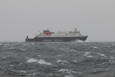 MV Clansman approaching Brodick Bay. 3 January 2014