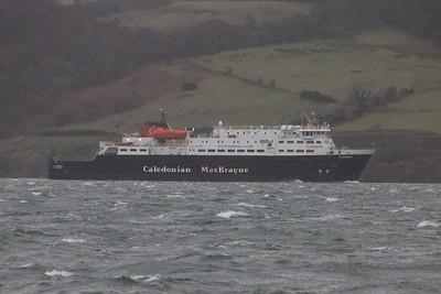 MV Clansman in Brodick Bay. 3 January 2014