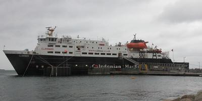 MV Clansman at Brodick Pier. 3 January 2014