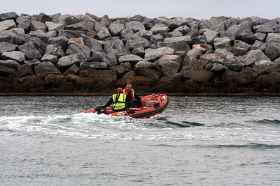 MV Loch Alainn rescue craft at Eriskay 10 July 2011