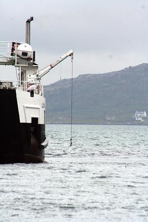 MV Loch Alainn at Eriskay 10 July 2011