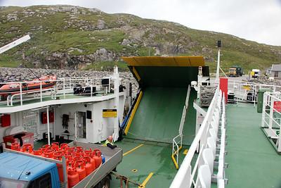 MV Loch Alainn leaving Eriskay 10 July 2011