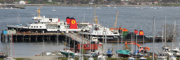 MV Isle of Arran and MV Saturn at Rosneth Peir. 29 April 2012