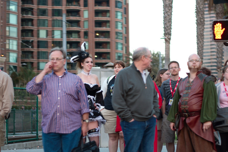 Comic-con was starting in San Diego, here is a typical sample of the attendees