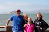 On the pier with Alcatraz in view