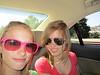 The girls, on the way to Santa Cruz