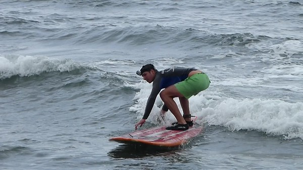 Caleb Surfing
