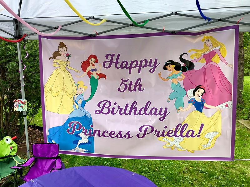 Priella is 5