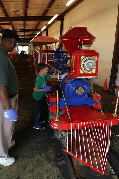 Caleb's train adventure