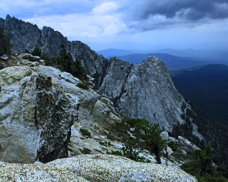 Tahquitz Rock from Devil's Slide Trail